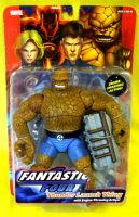 Fantastic Four: Thunder Launch Thing with Engine Throwing Action RARE!!!